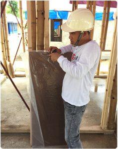 New material on construtcion site