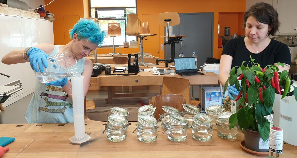 Laura Brambilla (Project leader) and Marion Dangeon (Research assistant) working on the LIQUOR project